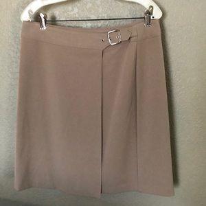 Briggs Petite 12 Wrap Around Career Tan Skirt